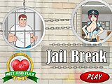 Jail Brake - Flash game hentai online sex:Help the man, who was arrested for spying and masturbating on the nude beach girls, steal the keys from the
