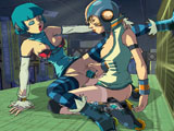 Jet Set radio Future - Ruth and Gum are slutty lesbians with sweet bouncy tits who like to fuck using diferent sex toys, enjoy watching them!