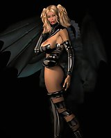 Sexy 3D babes in Gothic erotic outfits posing