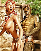 Reptile monster bangs an elf hottie - best 3D XXX pics