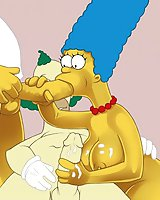 Marge Simpson sucks clown's dong
