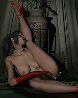 Babes in sexy outfits masturbating with sex toys