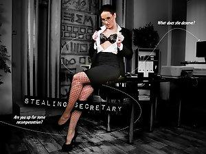 Stealing secretary - interactive porn
