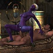 Violet futanari elf fucked