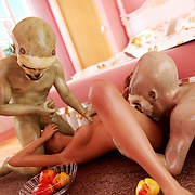 Alien fuck sexy girls