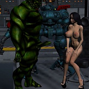 Sci-fi sex with hot chicks and monsters