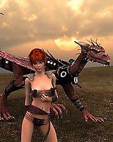 Flies a dragon - 3D Porn