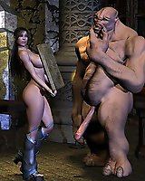 Monster interracial sex  in 3D
