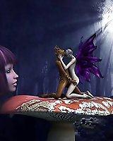 Autumn fairy meets summer fairy - 3D Porn