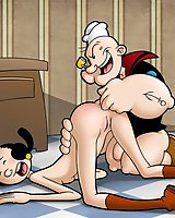 Popeye fucking his hottie Olive