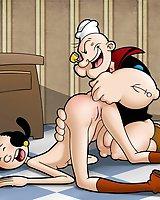 Popeye fucking his hottie Olive