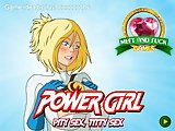 Power Girl: Pity Sex, Titty Sex. Power girl rewards a geeky guy who tried to stand up against a mugger for her other identity despite his knee knockin