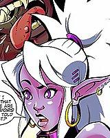 Fantasy elf whores rammed adult comix