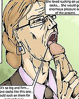 Porn in the office - adult comics