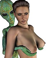 Alien and angry monster sex