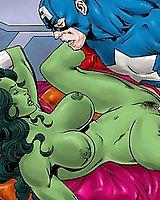 The Avengers all-holes cartoon sex