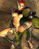 Hot elf babes in 3D porn