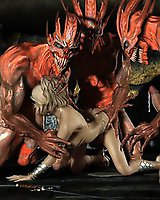 Group monster sex - 3D horror porn