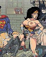 DC superheroes orgy porn