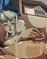 anime girls pussies full of cum.