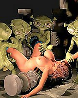 Green Alien attack  - 3D Porn