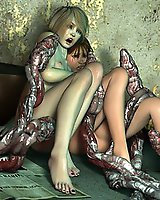 Lustful Tentacle monsters 3D sex
