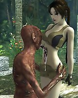 Lara Croft fucked by undead