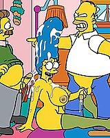 Homer Simpson cartoon sex