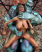 Evil creatures forced sex