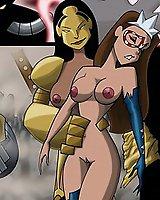 Sexy Liberty superhero cartoon porn comix