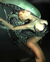 Amazing alien 3D sex