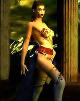 Warrior babes 3D sex art