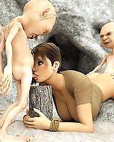 Lara Croft and little goblins