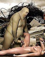 Extraterrestrial monster porn