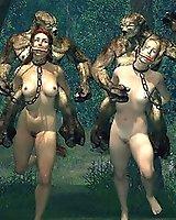 Alien sci-fi 3D sex