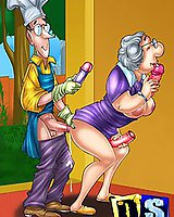 Cartoons fucked with rubber sex toys