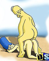 Edna Krabappel and Marge Simpson mature cartoon porn