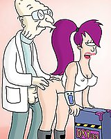 Sexy babe Leela from Futurama banged