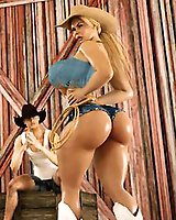 Hot ass 3D Babes with huge tits