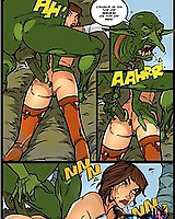 Rebellious witch gets fucked hard in the ass - comics for adults