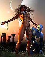 Sci-fi sex with beauties, angels and devil babes