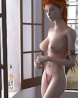 High quality 3D - slender vixens in lingerie or without