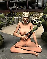 3D Sci-fi robots and sex machines